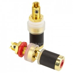 EIZZ EZ-303 Gold plated Tellurium Copper Binding posts (Pair)