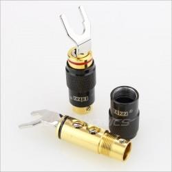 EIZZ EZ-502 Fourches Cuivre plaqué Or Ø 5mm (La paire)