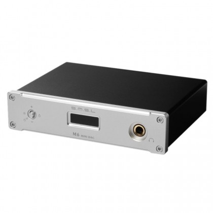 SMSL M6 USB DAC 32bit 384kHz / Headphone Amplifier 130mW Silver