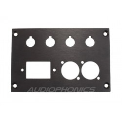 Audiophonics Aluminium rear for DIY Amplifier box 124x80x3mm
