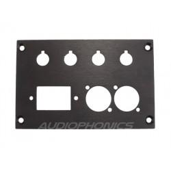 Audiophonics Face arrière Aluminium XLR pour Amplificateur DIY 124x80x3mm