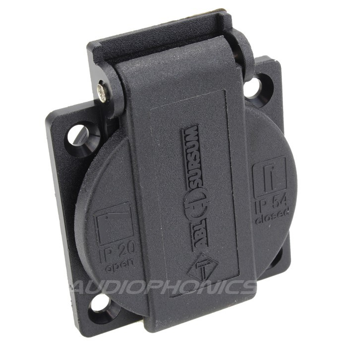 ABL SURSUM Power inlet with sutter 16A IP54 Black