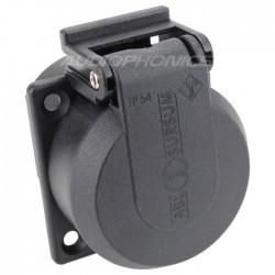 ABL SURSUM Schuko inlet with sutter 16A IP54 Black