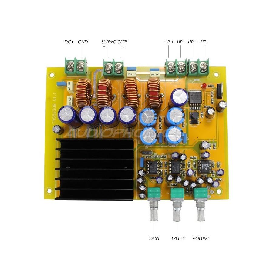 Ma Ta03 Class D Amplifier 21 Board Tas5630b 2x 150w 1x 300w 4 Lm3886 Power Kit