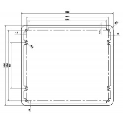 Aluminium box for transformers 160x140x75mm
