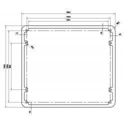 Boitier Aluminium pour transformateur 160x140x75mm