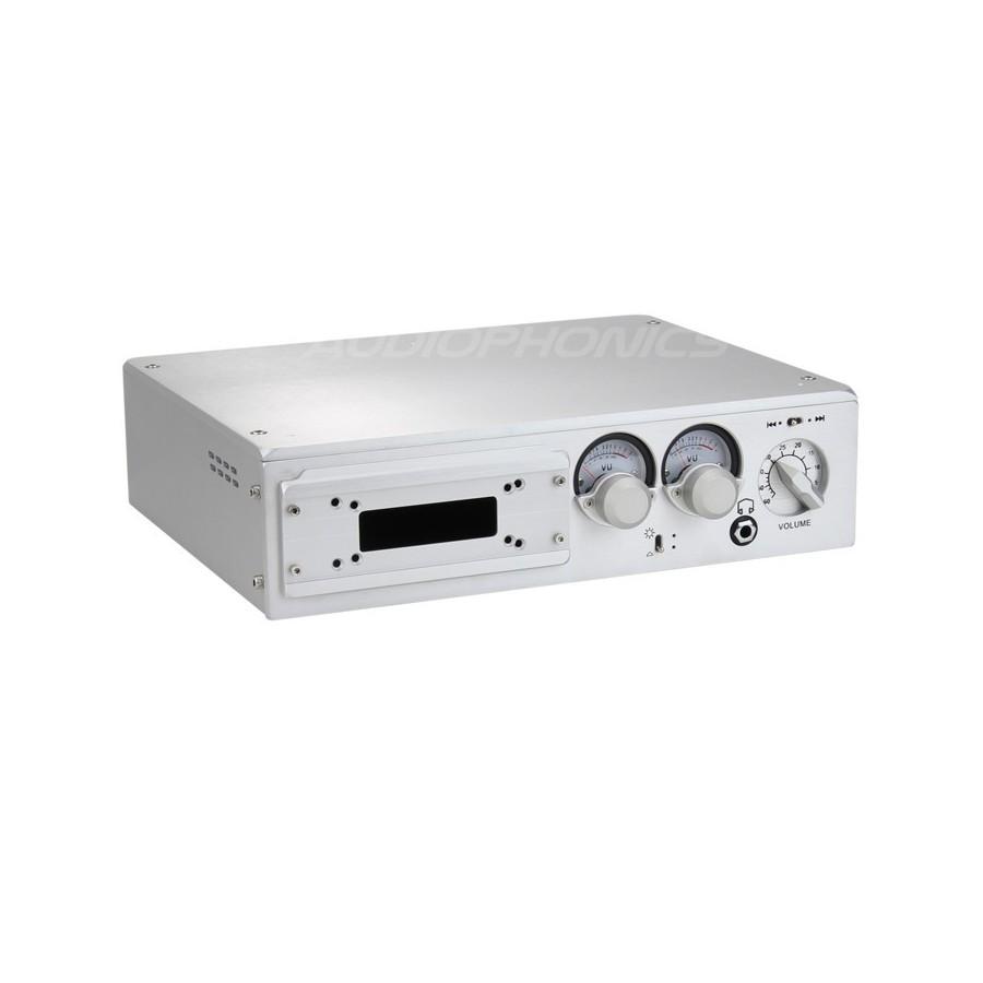 100% Aluminium DIY Box / Case with Vu-meter 320x246x83mm - Audiophonics