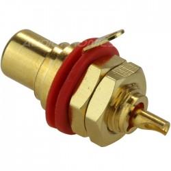 Neutrik NYS367 Embase RCA à souder - (Rouge)