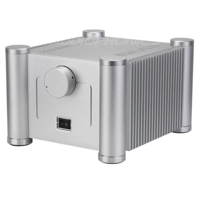 Boîtier DIY Colonnes Cylindriques avec Dissipateurs 100% Aluminum 242x206x150mm Argent