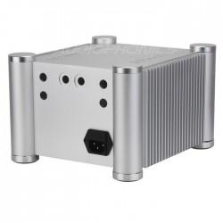 Boitier DIY 100% Aluminium angles circulaires avec dissipateurs 242x206x150mm