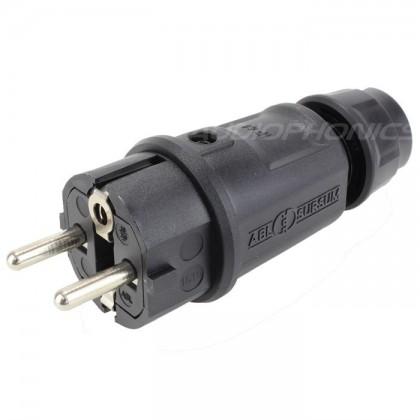 ABL SURSUM Black Schuko connector 16A IP44 Ø 12.5mm