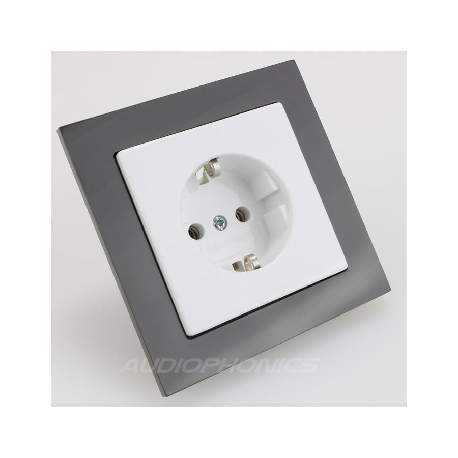 busch jaeger cadre pour prise murale gris anthracite audiophonics. Black Bedroom Furniture Sets. Home Design Ideas
