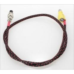 Câble adaptateur USB-B pour alimentation GX12 aviation femelle 2 pôles 75cm