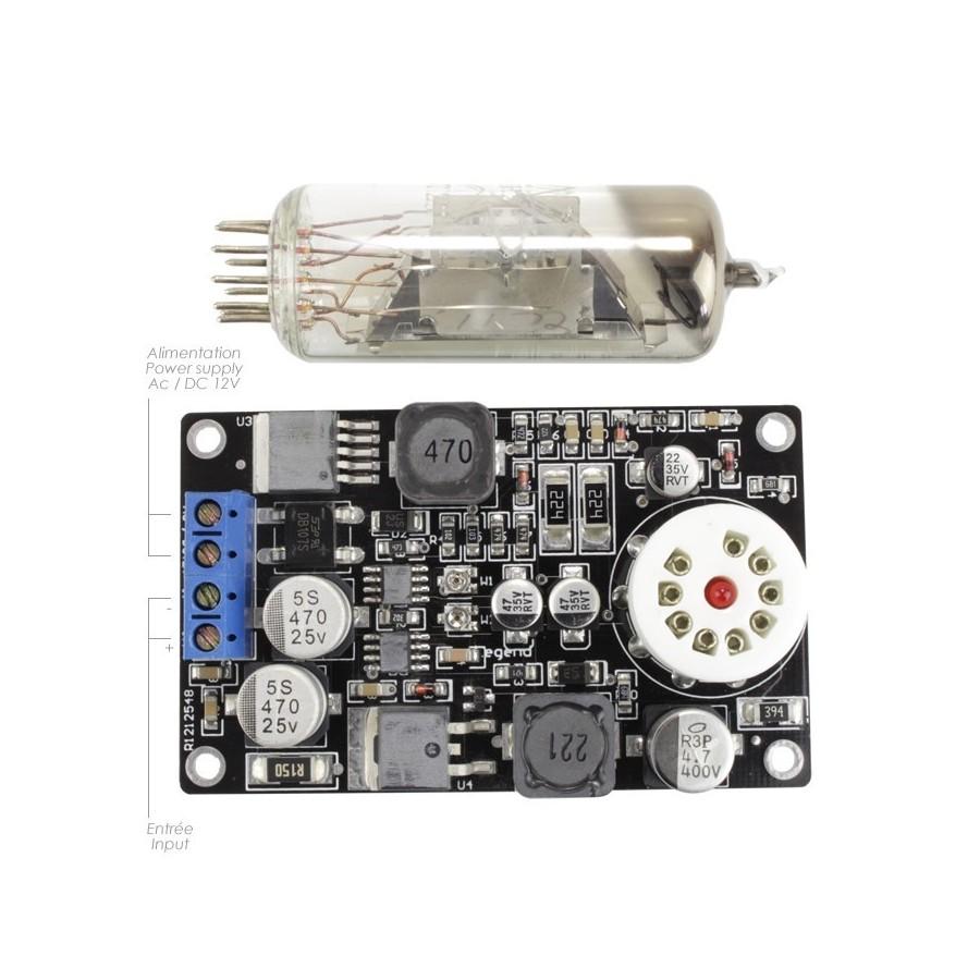 Vacuum Tube Vu Meter Module 6e2 Led Audiophonics How To Build 4 Mtre