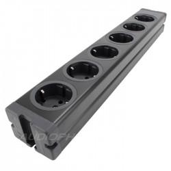 Multiprise DIY aluminium 6 ports Schuko