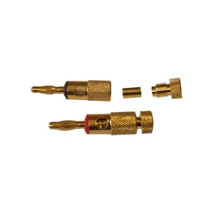 Dayton Audio BACT Fiches Bananes plaquées Or (x2) Ø 5.0mm