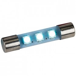 LED Fuse Lamp for Vu-meter / Tuner Warm Blue 8V