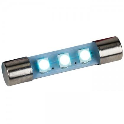 Ampoule navette à LED bleue pour éclairage Vu-mètre / Tuner 8V