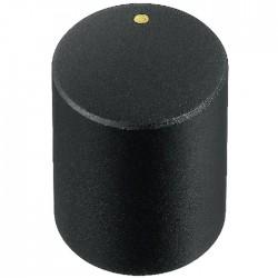 Bouton Axe Cranté 15x18mm Ø6mm Noir pour Potentiomètre