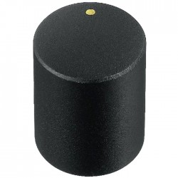 Button black 15 × 18mm for potentiometer Axis notched Ø6mm