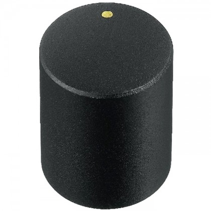 Bouton Axe Cranté 15×18mm Ø6mm Noir pour Potentiomètre