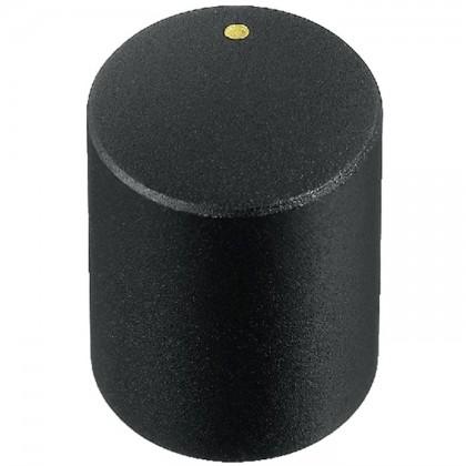 Knob Notched Shaft 15×18mm Ø6mm Black for Potentiometer