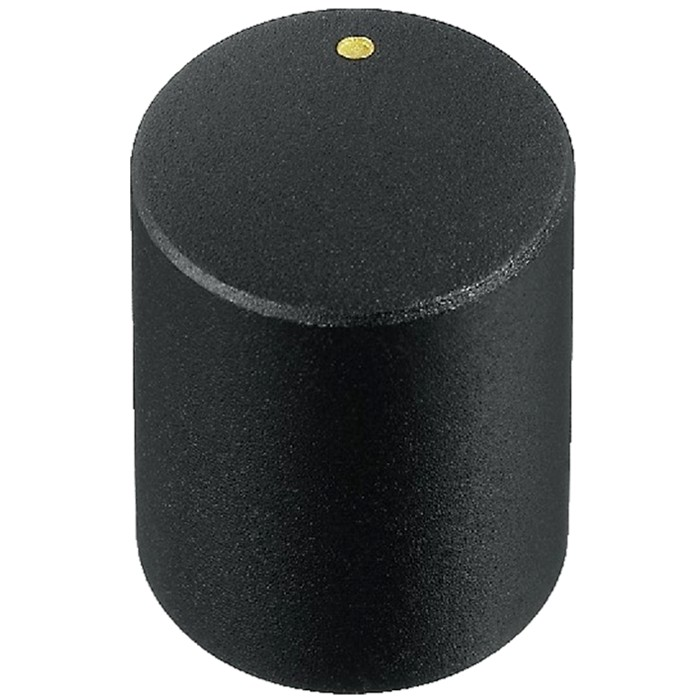 Knob Notched Shaft 15×18mm Ø6mm Black for Potentiometer