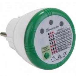 ELECAUDIO Testeur de Phase secteur et de Sécurité électrique pour prise 230V