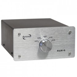 DYNAVOX AUX-S Audio Selector Switch for RCA sources Silver