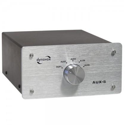 DYNAVOX AUX-S Silver Commutateur sélecteur audio pour sources RCA