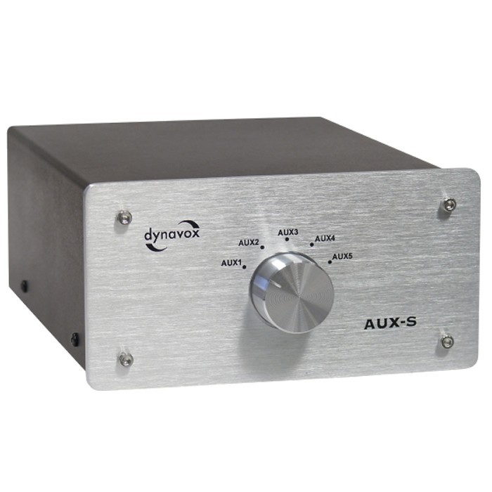 DYNAVOX AUX-S Commutateur sélecteur audio pour sources RCA Argent