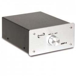 DYNAVOX AMP-S Commutateur sélecteur audio pour enceinte / amplificateurs Argent