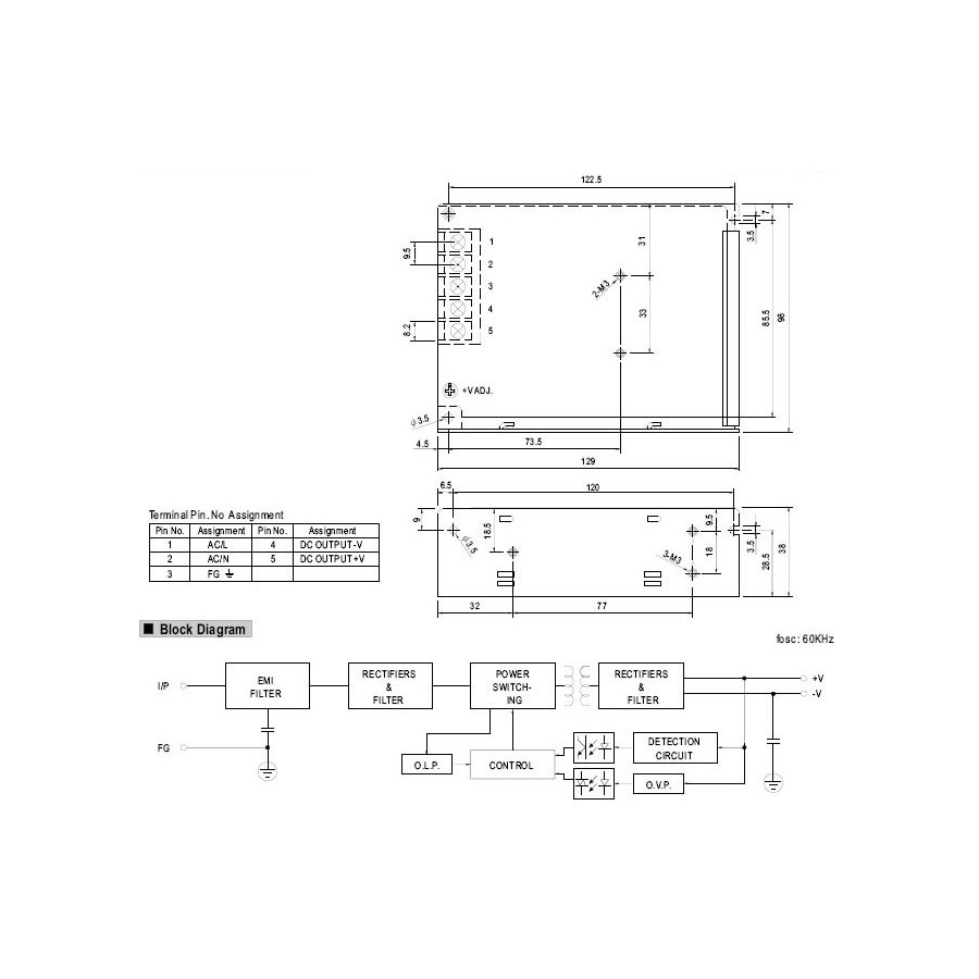 Mean Well Nes 50 12 Switching Power Supply Smps 50w 12v 42a Galaxy Note 3 Block Diagram Audiophonics