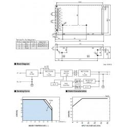 Meanwell NES-100-12 Module d'Alimentation à Découpage SMPS 100W 12V 8.5A