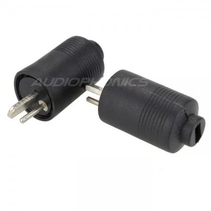 DIN Speakers plug Male Ø 6mm (Pair)