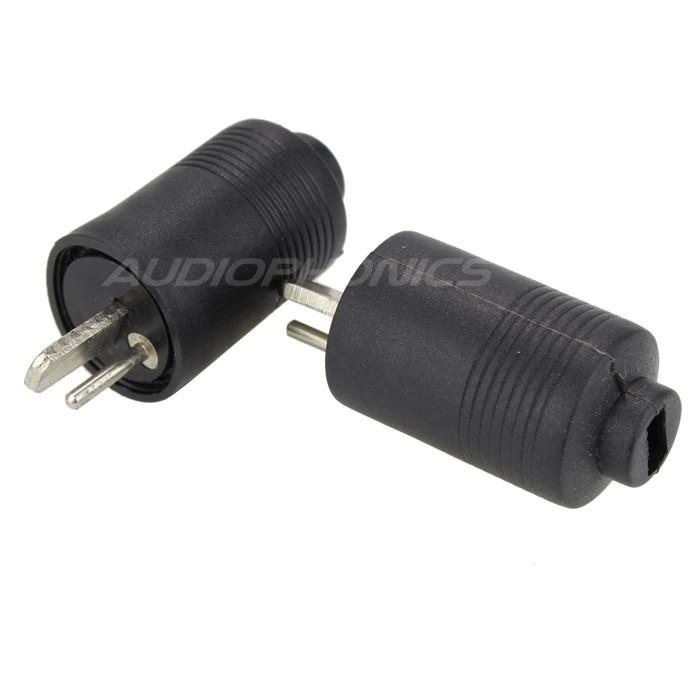 Plugs DIN Loudspeakers with Screw Ø6mm (Pair)