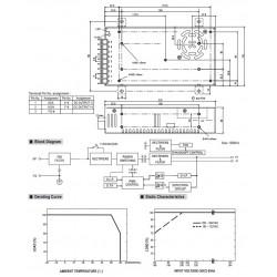 Meanwell NES-350-12 Module d'Alimentation à Découpage SMPS 350W 12V 29A
