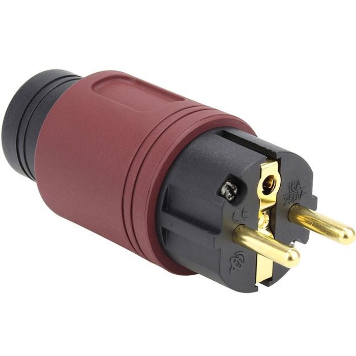 ELECAUDIO RS-34GW Connecteur Secteur SCHUKO Plaqué Argent / Or 24K Wine Ø16.5mm