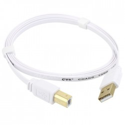 CYK Gold plated 24K USB A - USB B 2.0 flat Cable 1.5m