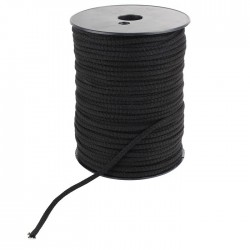 Sheath Natural cotton knitted for cable Ø 2.5mm Black