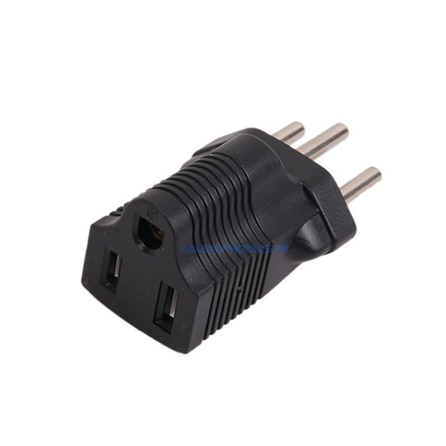 Adaptateur secteur usa nema 5 15 vers suisse sev 1011 audiophonics - Adaptateur de prise pour les usa ...
