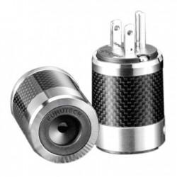FURUTECH FI-50M R Connecteur secteur US NEMA plaqué Rhodium Carbone Ø 20mm