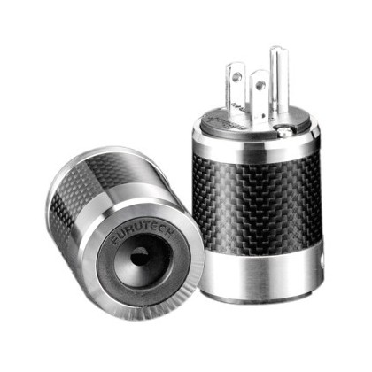 FURUTECH FI-50M R Rhodium plated NEMA US Power plug Carbon Ø 20mm
