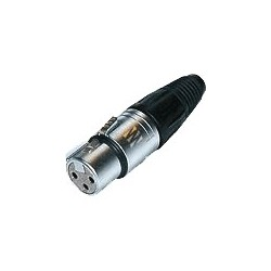 """NEUTRIK NC3FX-SOM Connecteur XLR Femelle 3 Pôles """"Version Sommer"""" Ø 8.7mm (Unité)"""
