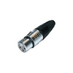 """NEUTRIK NC3FX-SOM Connecteur XLR Femelle 3 Pôles """"Version Sommer"""" Ø8.7mm (Unité)"""