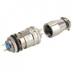 Snap-fit XS10 plug 2 pin 250V 3A Ø 5mm