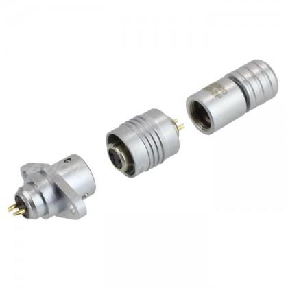 Snap-fit XS6 G plug Gold plated 2 pin 250V 3A Black Ø 4mm