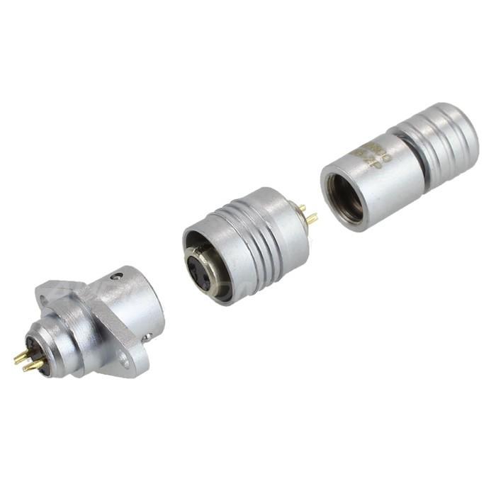 Snap-fit XS6 G Diamond plug Gold plated 3 pin 250V 3A Ø4mm