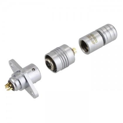 Snap-fit XS6 G Diamond plug Gold plated 5 pin 250V 3A Ø 4mm