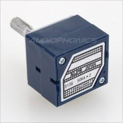 ALPS RK27 Potentiomètre Stéréo Axe Cranté Haute Qualité 50 Kohm